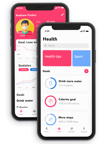 Features of Health & Fitness App
